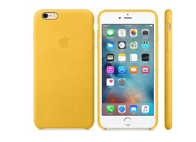 Θήκη iPhone 6s Plus - Apple Leather Case Marigold (MMM32ZM/A)