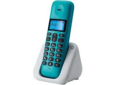 Motorola T301 Ασύρματο Τηλέφωνο Τυρκουάζ