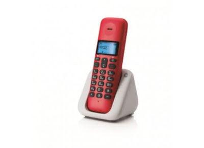 Motorola T301 Ασύρματο Τηλέφωνο Κόκκινο
