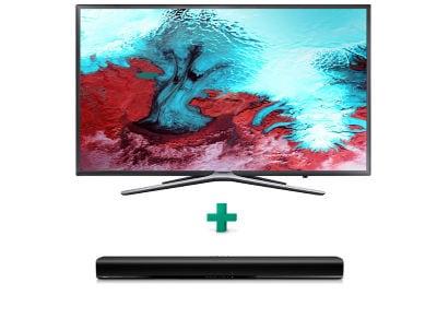 """Τηλεόραση Samsung 49"""" Smart LED Full HD UE49K5500 & Philips Soundbar 2.0 HTL1190B"""