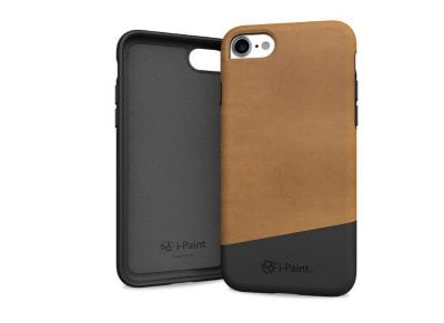 Θήκη iPhone 8/7 - iPaint Brown Leather Soft Case Καφέ