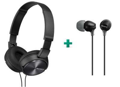 Ακουστικά Sony MDR-EX15AP & Sony MDR-ZX310AP - Μαύρο