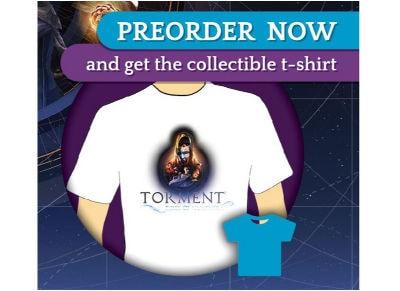 T-Shirt Torment tides of numenera gaming   αξεσουάρ κονσολών   ps3    φιγούρες παιχνιδιού