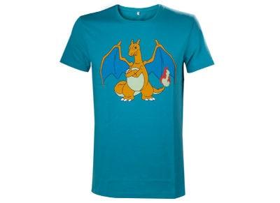 T-Shirt Bioworld Pokemon Charizard Τυρκουάζ - S