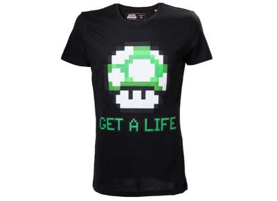 T-Shirt Nintendo Super Mario - Get a Life Μαύρο L