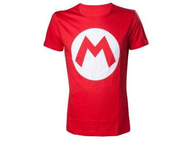 T-Shirt Nintendo Super Mario Logo Κόκκινο S