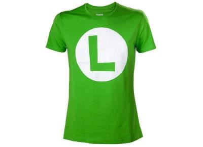 T-Shirt Nintendo Super Mario - Luigi Logo Πράσινο M