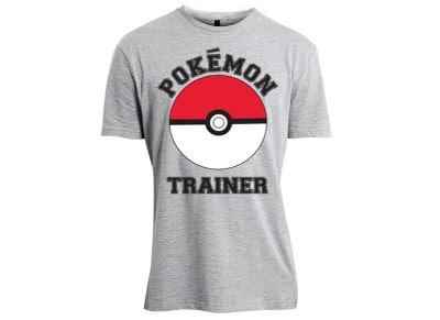 T-Shirt Bioworld Pokemon Trainer Γκρι XL