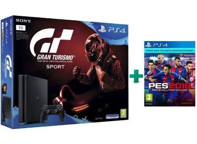 Sony PlayStation 4 - 1TB Slim & Gran Turismo Sport & PES 2018 gaming   κονσόλες   ps4