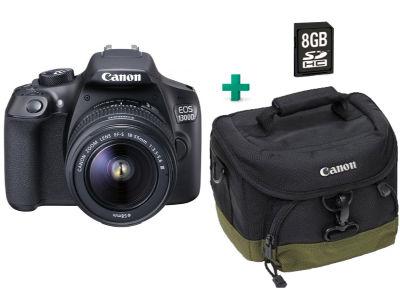 DSLR Canon EOS 1300D Kit 18-55mm IS & Τσάντα & Κάρτα Μνήμης 8GB