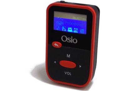MP3 Player Osio SRM-7880 - 8GB Κόκκινο/Μαύρο