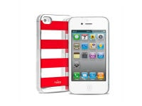 Θήκη iPhone 4/4s - Puro Stripe Cover Κόκκινο