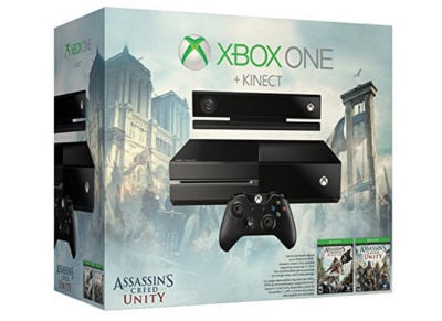 Microsoft Xbox One - 500GB & Kinect & Assassin's Creed Unity / Black Flag & DC Spotlight