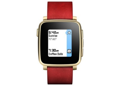 Smartwatch Pebble Time Steel Χρυσό