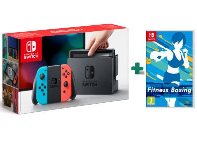 Nintendo Switch Neon Red/Neon Blue - Κονσόλα Nintendo & Fitness Boxing