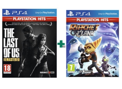 The Last of Us Remastered & Ratchet & Clank PlayStation Hits - PS4 Games