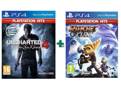 Uncharted 4: Το Τέλος Ενός Κλέφτη & Ratchet & Clank PlayStation Hits - PS4 Game