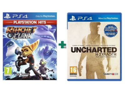 Uncharted Nathan Drake Collection & Ratchet & Clank PlayStation Hits - PS4 Game