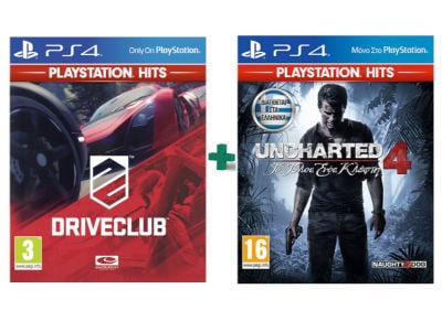 DriveClub & Uncharted 4: Το Τέλος Ενός Κλέφτη - PlayStation Hits - PS4 Games